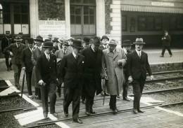 France Rambouillet Conseil Des Ministres Queille Monzie Berthod Ancienne Photo Meurisse 1932