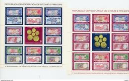 Sao Tome 1978-Billets De Banque, Pièce De Monnaie-MI 531/40-2 Feuillets