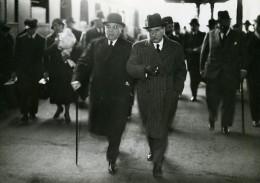 Paris Gare De Lyon Politicien Daladier & Sarraut Ancienne Photo Meurisse 1930