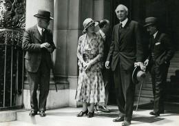 Suisse Geneve Politiciens Mac Donald  & John Simon Ancienne Photo Meurisse 1932