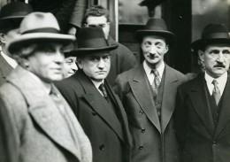 France Politiciens Daladier, Paul-Boncour, Bonnet Et Chautemps Ancienne Photo Meurisse 1932
