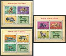 194 GUINEE 1968 - Yvert BF 21/23 - Singe Crocodile Phacochère Elephant .... - Neuf ** (MNH) Sans Trace De Charniere