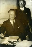 Suisse Geneve Président De La SDN Mr De Water Ancienne Photo Meurisse 1932 - Famous People