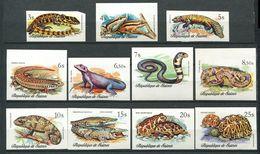 194 GUINEE 1977 - Mi 782/92 Non Dentele - Reptile Serpent Tortue - Neuf ** (MNH) Sans Trace De Charniere