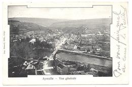 AYWAILLE 1902 Vue Générale Panorama Pont - Ed. Aug. Bénard, Liège - Non Divisé