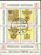 #Denmark 1985. HAFNIA '87 Stamp Exhibition. Bloc. Michel 4. Cancelled (o)