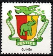 VIgnette Cinderella Seal Label - Guinea - Coats Of Arms - Elephant Elefant Elefante Olifant Branch Olive