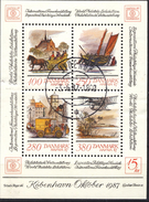 #Denmark 1986. HAFNIA '87 Stamp Exhibition. Bloc. Michel 5. Cancelled (o)