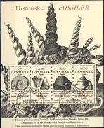 #Denmark 1998. Fossils. Bloc. Michel 10. Cancelled (o)