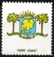 VIgnette Cinderella Seal Label - Ivory Coast - Coats Of Arms - Elephant Elefant Elefante Olifant