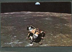 U.S.A. - Carte QSL - APOLLO 11 MOON LANDING July 20, 1969 - NASA Photo - Radio Amateur