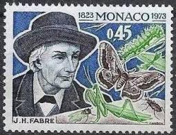 MONACO Papillons. Yvert N° 923; 150ème Anniversaire De La Naissance De L´entomologiste JH Fabre ** MNH - Non Classés