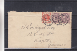 Grande Bretagne - Lettre De 1897 - Oblit London - Exp Vers Kingston En Jamaica