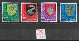 Armoiries - Suisse N°1096 à 1099 1979 O