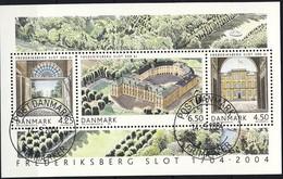 #Denmark 2004. Frederiksberg Castle 300 Years. Bloc. Michel 24. Cancelled (o)