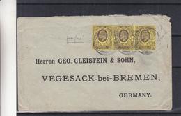 Perforés - Grande Bretagne - Lettre De 1904 - Exp Vers Vegesack En Allemagne