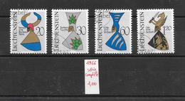 Armoiries Chevalier Moyen-âge - Liechtenstein N°413 à 416 1966 O