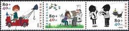 Netherlands 1999 - Children's Serial Characters ( Mi 1750/52 - YT 1723/25 ) Complete Series - Oblitérés