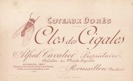 CARTE COMMERCIALE 84 ROUSSILLON TARIF CLOS DES CIGALES VINS DORES  13,5x8,5cm - France