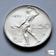 Italia - 50 Lire - 1955 - 1946-… : República