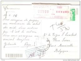 GRIMAUD - VAR  - Supplément De Taxation De 36 FB Par Charleroi Sur Un Envoi De 240 Cent Francais