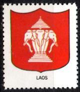 VIgnette Cinderella Seal Label - Laos - Coats Of Arms - Elephant Elefant Elefante Olifant