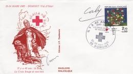France Cover P/m Domont 1985 La Croix Rouge (T9A10)