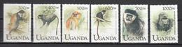 Uganda 1999,6V,set,monkeys,apen,affen,singes,monos,scimmias,MNH/Postfris(A3165)