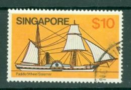 Singapore: 1980/84   Ships  SG376    $10     Used - Singapore (1959-...)