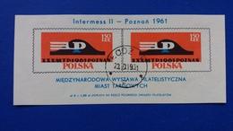 POLAND 1961 INTERNATIONAL PHILATELIC EXHIBITION OF HANSEATIC CITIES INTERMESS II FISCHER 1109 SHEET 23