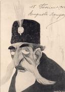 CARICATURE Du SHAH D'IRAN   (probablement MOZAFFER ED DINE) - Iran