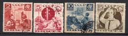 RUSSIE (U.R.S.S.) - 1936 - Série Des Pionniers - N° 584 Et 586 à 588 (Dentelés 14)