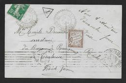 Tarn Et Garonne - Cachet Pointillé De BOURRET - Marcophilie (Lettres)