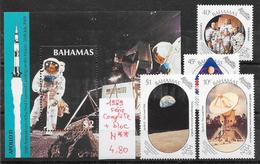 Espace Apollo Lune - Bahamas N°691 à 694, BF N°55 1989 **