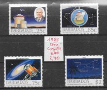Espace Observatoire Astronomie - Barbade N°736 à 739 1988 **