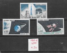 Espace Satellite - France N°1464, 1465, 1476 1965-66 ** - Space