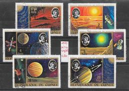 Espace Copernic Planète - Guinée N°511 à 516 1973 O