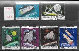 Espace - Hongrie N°1622 à 1627 1964 O