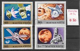 Espace Mars - Hongrie N°2357 à 2360 1974 O