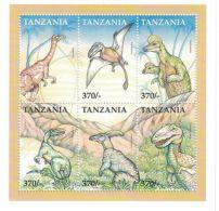Tanzania - Dinosaurs, 1999 - Sc 1835 Sheet Of 6 Mint NH