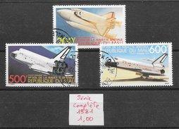 Espace Navette Spatiale - Mali PA N°429 à 431 1981 O