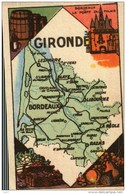 Département De La GIRONDE   33 -      Chromo Ou Image Chocolat Turenne (Année 1950) - Non Classés