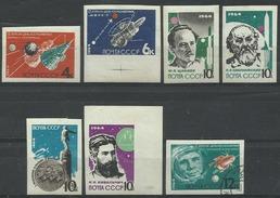 URSS 1964, Conquista Dello Spazio (**), Serie Completa Non Dentellata. Tutti Nuovi Tranne Uno.