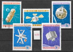Espace Satellite - Mongolie N°397 à 401 1967 O