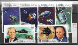 Espace Apollo - Ras Al Khaima PA N°17 (2v) & 27 (4v) 1969-70 O