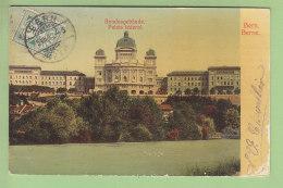 BERN : Bundesgebäude, Berne Palais Fédéral. 2 Scans. Edition Kleis - BE Berne
