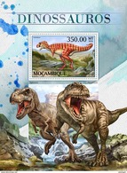 MOZAMBIQUE 2016 - Dinosaurs S/S. Official Issue - Prehistorisch