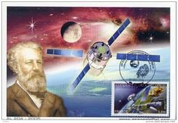 Jules Verne-Portrait-Espace-ESA-AL204-France 2007-Carte Maximum
