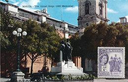 D29071 CARTE MAXIMUM CARD 1961 MALTA - MONUMENT OF THE GREAT SIEGE 1565 VALLETTA CP ORIGINAL