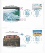 "Enveloppes  1er Jour FDC .1996 2  Enveloppes ""UNESCOll"" - FDC"